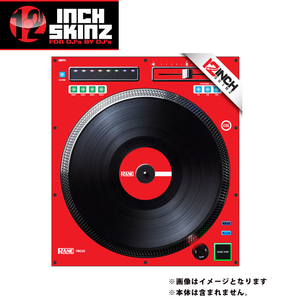 12inch SKINZ / Rane TWELVE SKINZ (SINGLE / 1枚) (RED) 【TWELVE 用スキン】