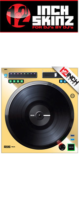 ■ご予約受付■ 12inch SKINZ / Rane TWELVE SKINZ Metalics (SINGLE / 1枚) (MIRROR GOLD) 【TWELVE 用スキン】 ※旧モデル仕様※