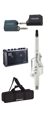 ■ご予約受付■ 【MOBILE CUBEワイヤレスセット】 Roland(ローランド) / Aerophone (AE-10) ホワイト - エアロフォン / ウィンド・シンセサイザ ー 1大特典セット
