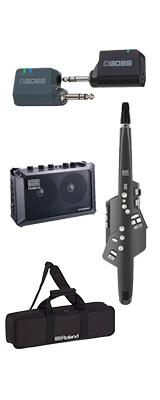 ■ご予約受付■ 【MOBILE CUBEワイヤレスセット】 Roland(ローランド) / Aerophone (AE-10G) グラファイト・ブラック - エアロフォン / ウィンド・シンセサイザ ー 1大特典セット