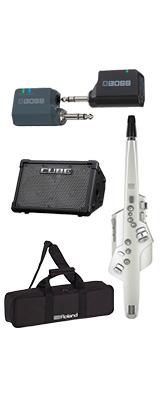 ■ご予約受付■ 【CUBE STREET EXワイヤレスセット】 Roland(ローランド) / Aerophone (AE-10) ホワイト - エアロフォン / ウィンド・シンセサイザ ー 1大特典セット