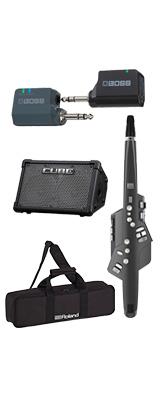 ■ご予約受付■ 【CUBE STREET EXワイヤレスセット】 Roland(ローランド) / Aerophone (AE-10G) グラファイト・ブラック - エアロフォン / ウィンド・シンセサイザ ー 1大特典セット