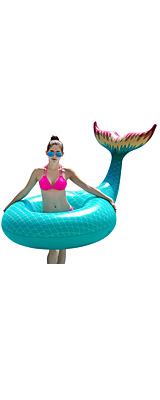 Jasonwell / Giant Inflatable Mermaid Tail Pool Float (Green) マーメイドテール 浮き輪