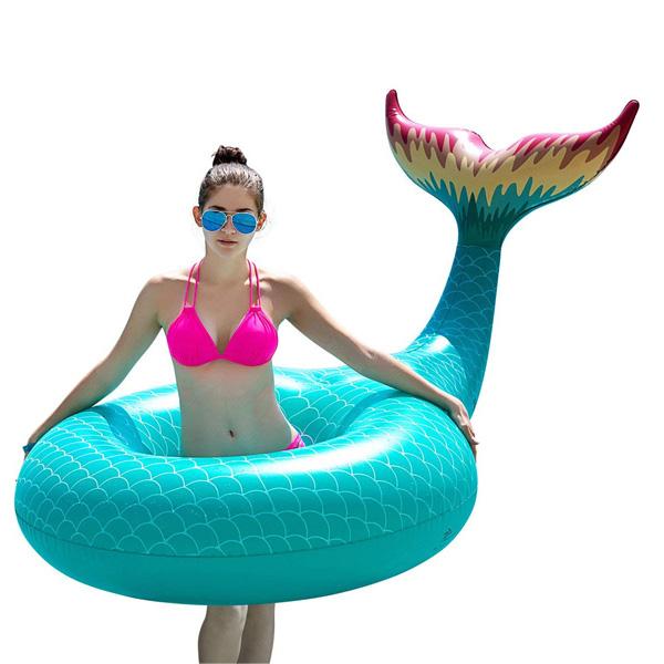 Jasonwell / Giant Inflatable Mermaid Tail Pool Float (Green) マーメイドテール 浮き輪
