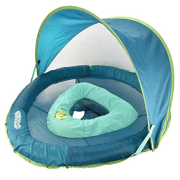 SwimSchool(スイムスクール) / Fabric BabyBoat(ブルー) 日除け付 浮き輪