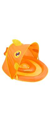 SwimSchool(スイムスクール) / Fun Fish Fabric Baby Boat(オレンジ) おさかな 日除け付 浮き輪