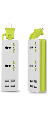 UPWADE(アップウェイド) /  Outlet Travel Power Strip Surge Protector(ホワイト) 4つのスマートUSB充電ステーション 高速充電