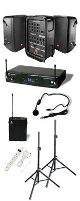 【ワイヤレスヘッドマイクセット】 EON208P / KWS-899P/HM-38 ポータブルPAシステム  《 講演 ・イベントに最適 》 2大特典セット