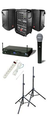 【選べるワイヤレスマイクセット】 EON208P / K.W.Sワイヤレスシステム ポータブルPAシステム  《 講演 ・イベントに最適 》 2大特典セット