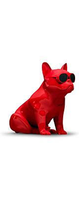 Jarre(ジャール) / AeroBull HD1 Hi-Fi Speaker (Glossy Red) - フレンチブルドックをモチーフとした Bluetooth対応 ワイヤレススピーカー - 1大特典セット
