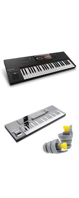 KOMPLETE KONTROL S49 MK2/ Native Instruments(ネイティブインストゥルメンツ)  - MIDIキーボード49鍵 - 【専用デッキセーバーセット】  2大特典セット