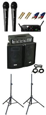 ■ご予約受付■ 【ワイヤレスマイク2本PAセット】 KPA-100 / WMS40 PRO MINI2 VOCAL SET DUAL  《講演 ・イベントに最適》 3大特典セット
