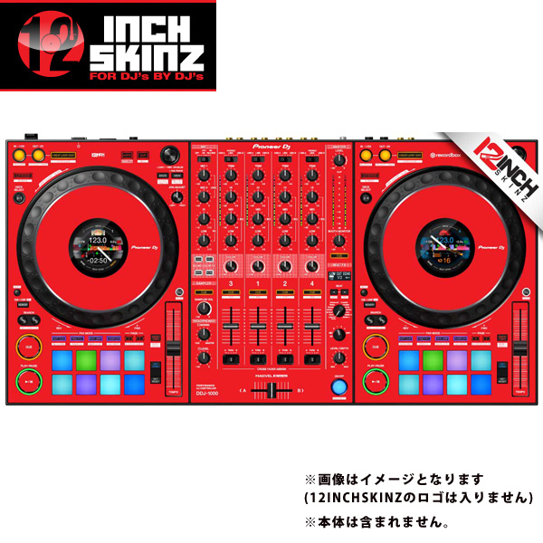 12inch SKINZ / Pioneer DDJ-1000 SKINZ(Red) 【DDJ-1000用スキン】