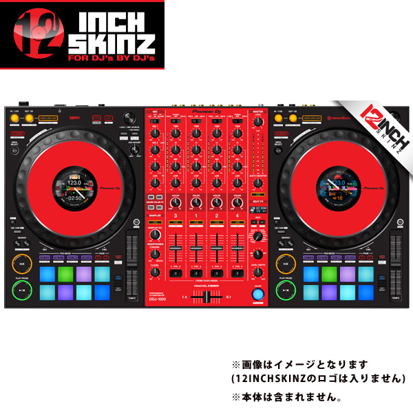 12inch SKINZ / Pioneer DDJ-1000 SKINZ(Black/Red) 【DDJ-1000用スキン】