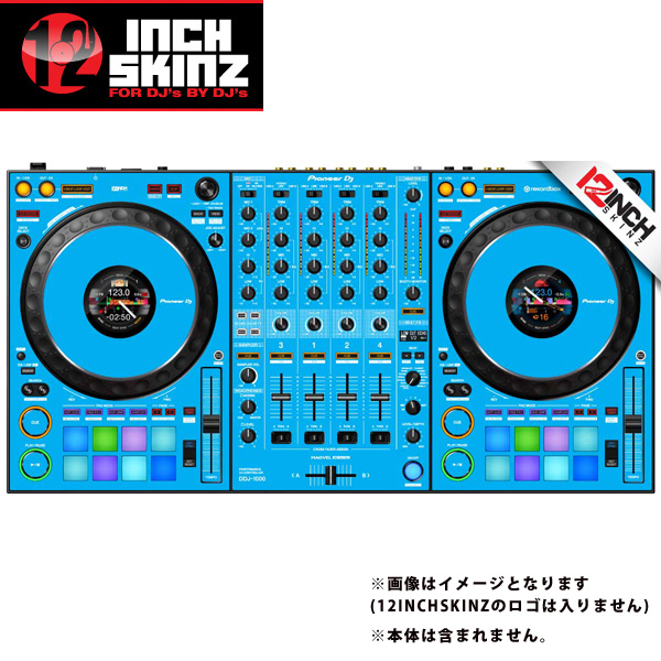 12inch SKINZ / Pioneer DDJ-1000 SKINZ(Lite Blue) 【DDJ-1000用スキン】