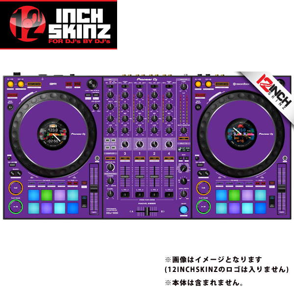 12inch SKINZ / Pioneer DDJ-1000 SKINZ(Purple) 【DDJ-1000用スキン】