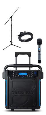 【マイクスタンドセット】 Denon(デノン) / Commander Sport -ワイヤレスマイク付き ポータブルPAシステム - 【 防滴IPX4 Bluetooth対応 充電池内蔵 】 2大特典セット