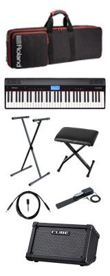 【CUBE STREETブラックセット】 Roland(ローランド) / GO:PIANO CUBE STREET (ブラック) - エントリーキーボード - 2大特典セット