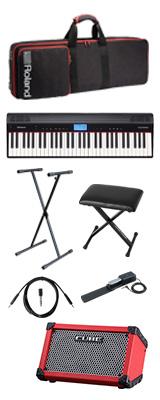 【CUBE STREETレッドセット】 Roland(ローランド) / GO:PIANO CUBE STREET (レッド) - エントリーキーボード - 2大特典セット
