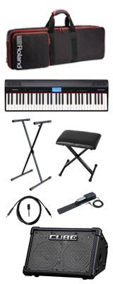 【CUBE STREETEXセット】 Roland(ローランド) / GO:PIANO CUBE STREET EX - エントリーキーボード - 2大特典セット