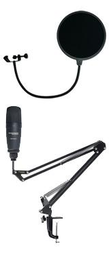 【 ESP-13 ポップガードセット 】 Marantz(マランツ) / Pod Pack 1J - USBコンデンサーマイク&ブームアームスタンド -