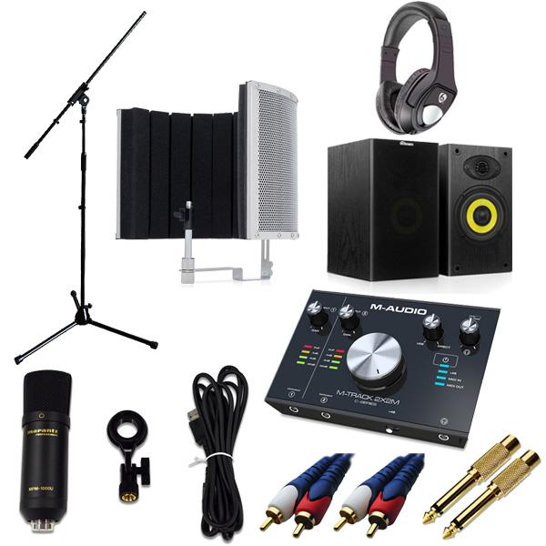 【 高品質ボーカルレコーディングセットA 】 Marantz(マランツ)  MPM-1000U / M-TRACK 2x2M / Sound Shield Live セット