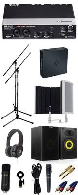 【 Cubase Pro 9 (アカデミック版) 高品質弾き語り録音スピーカーセットB 】 Marantz(マランツ)  MPM-1000U / UR242 / PRO63 / Sound Shield Live セット 1大特典セット