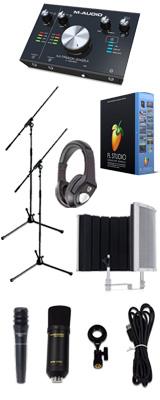 【 FL STUDIO 20 高品質弾き語り録音セットA 】 Marantz(マランツ)  MPM-1000U / M-TRACK 2x2M / PRO63 / Sound Shield Live セット 1大特典セット