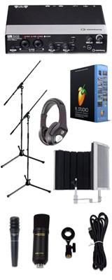 【 FL STUDIO 20 高品質弾き語り録音セットB 】 Marantz(マランツ)  MPM-1000U / UR242 / PRO63 / Sound Shield Live セット 1大特典セット