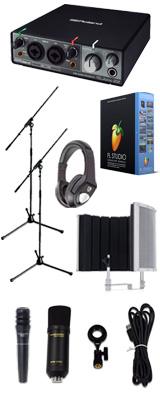 【 FL STUDIO 20 高品質弾き語り録音セットC 】 Marantz(マランツ)  MPM-1000U / Rubix22 / PRO63 / Sound Shield Live セット 1大特典セット