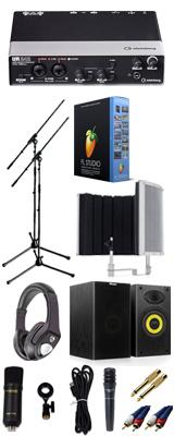 【 FL STUDIO 20 高品質弾き語り録音スピーカーセットB 】 Marantz(マランツ)  MPM-1000U / UR242 / PRO63 / Sound Shield Live セット 1大特典セット
