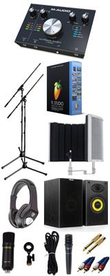 【 FL STUDIO 20 高品質弾き語り録音スピーカーセットA 】 Marantz(マランツ)  MPM-1000U / M-TRACK 2x2M / PRO63 / Sound Shield Live セット 1大特典セット