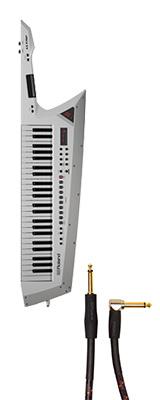 ■ご予約受付■ 【シールドセット】 Roland(ローランド) / AX-EDGE-W / RIC-G10A ホワイト 49鍵 - ショルダー・キーボード - 1大特典セット