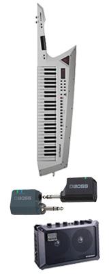 ■ご予約受付■ 【MOBILE CUBEワイヤレスセット】 Roland(ローランド) / AX-EDGE-W / MB-CUBE / WL-20L ホワイト 49鍵 - ショルダー・キーボード - 1大特典セット