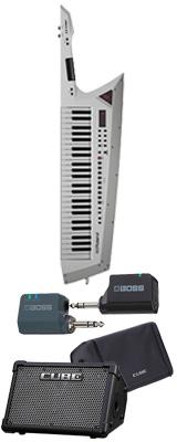 ■ご予約受付■ 【CUBE STREET EXワイヤレスセット】 Roland(ローランド) / AX-EDGE-W / CUBE-STEX / WL-20L ホワイト 49鍵 - ショルダー・キーボード - 1大特典セット