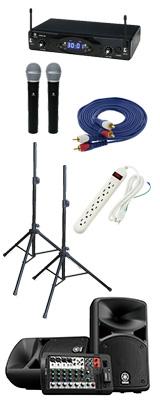 【KWSワイヤレスマイク2本セット】YAMAHA(ヤマハ) STAGEPAS_400BT / KWS-2H/H 《講演 ・イベントに最適》 3大特典セット