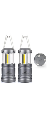 【2個セット】 Moobibear / LED Camping Lantern Lights Collapsible - COBテクノロジー LED 折りたためる ランタン 電池式 IPX4防水 -