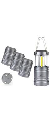 【4個セット】 Moobibear / LED Camping Lantern Lights Collapsible - COBテクノロジー LED 折りたためる ランタン 電池式 IPX4防水 -
