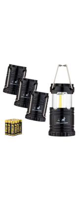 【4個セット】 MalloMe(マローミー) / LED Camping Lantern Flashlights - COBテクノロジー LED 折りたためる ランタン 電池式 -