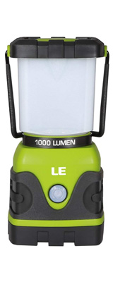 LE(Lighting EVER) / LED Camping Lantern 1000lm - 調光機能付 LED ランタン 電池式 IPX4防水 -