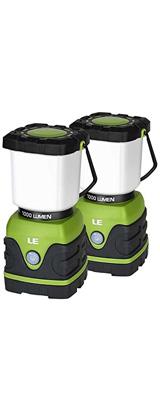 【2個セット】 LE(Lighting EVER) / LED Camping Lantern 1000lm - 調光機能付 LED ランタン 電池式 IPX4防水 - 【外箱ダメージあり】