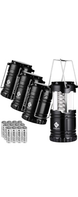 【4個セット】 Etekcity / 4 Pack Portable Outdoor LED Camping Lantern キャンピングランタン - LED 折りたためる ランタン 電池式 防水 -