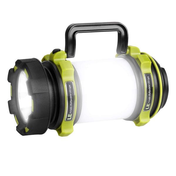 LE(Lighting EVER) / 500lm Rechargeable Camping Lantern - LED ランタン 懐中電灯 USB 充電式 IPX4防水 スマホ充電器 -