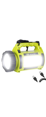 LE(Lighting EVER) / 1000lm Rechargeable Camping Lantern - LED ランタン 懐中電灯 USB 充電式 IPX4防水 スマホ充電器 -