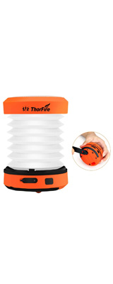 ThorFire / LED Camping Lantern Lights Hand Crank - 折りたためる LED ランタン USB / 手回し 充電式 -