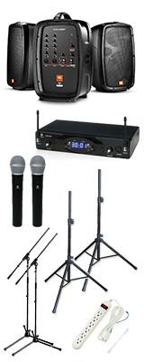 【KWSワイヤレスマイク2本セット】 EON206P / KWS-2H/H ポータブルPAシステム  《 講演 ・イベントに最適 》 3大特典セット