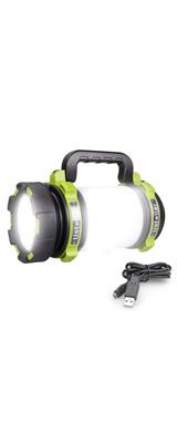 Ustellar / 1000lm Rechargeable CREE LED Spotlight - LED ランタン 懐中電灯 USB 充電式 IPX4防水 スマホ充電器 -