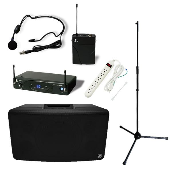【ワイヤレスヘッドマイクセット】 FreePlay LIVE / KWS-899P/HM-38 スタンドセット 《セミナー・講習にオススメ 》 大特典セット