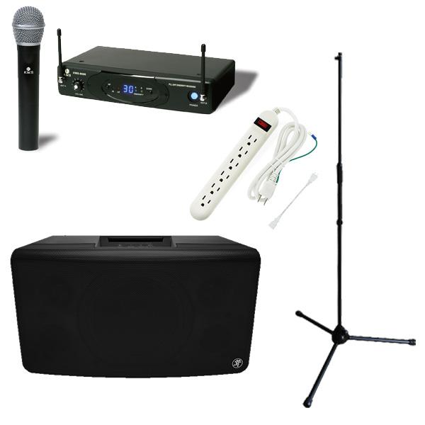 【選べるワイヤレスマイクの簡易PAセット】 FreePlay LIVE / K.W.Sワイヤレスマイク スタンドセット 《 講演 ・イベントに最適 》