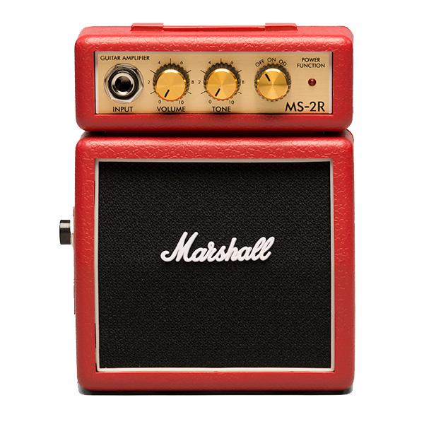 Marshall(マーシャル) / MS-2R (レッド) - 電池駆動 ミ二アンプ ギターアンプ - 1大特典セット